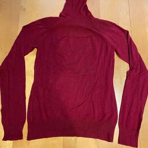 The Limited red turtleneck sweater